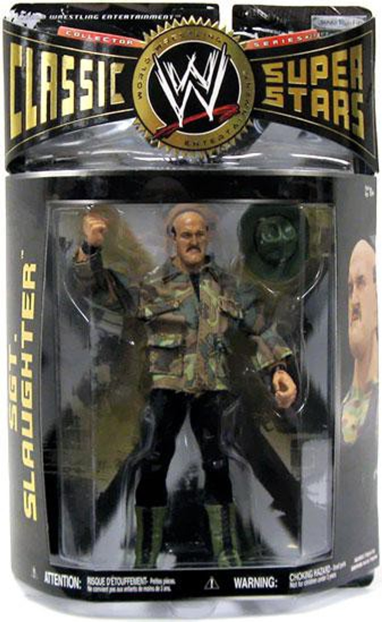 WWE Wrestling Classic Superstars Series 27 Sgt Slaughter Action Figure [With Army Jacket]