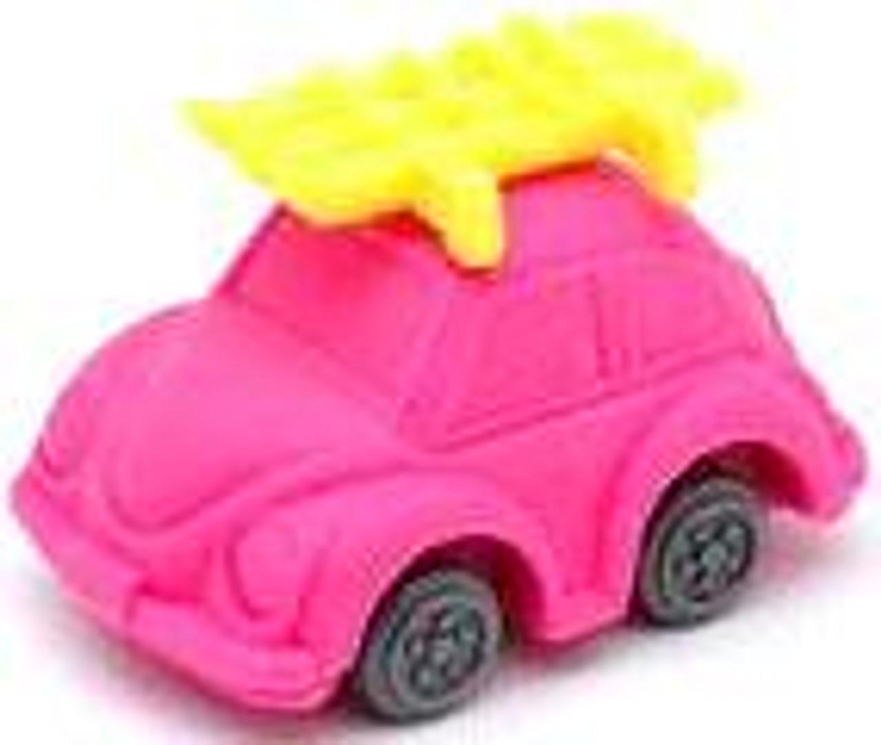 Iwako Beetle Car Eraser [Pink Car & Yellow Skis]
