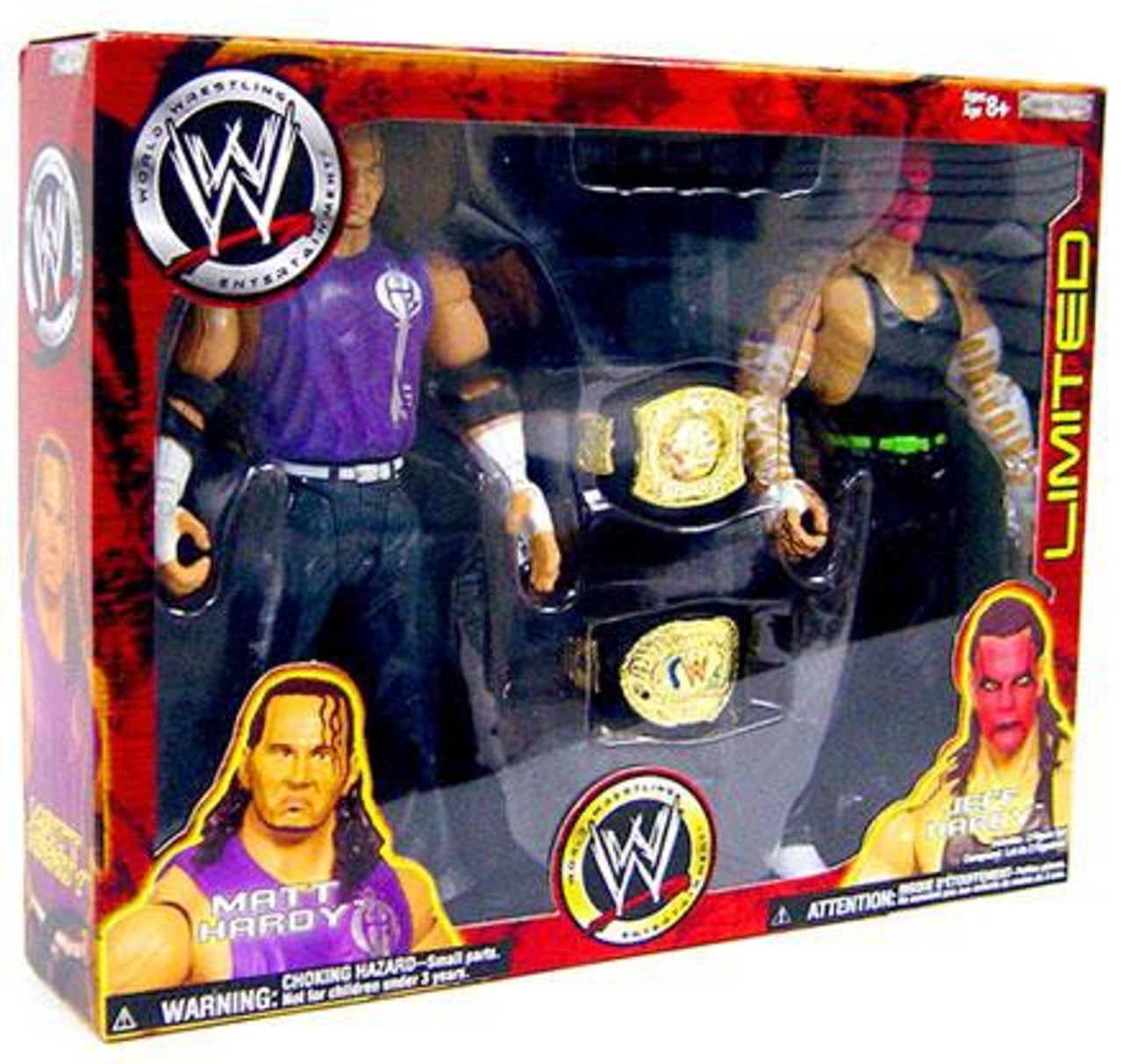 WWE Wrestling Exclusives Matt Hardy & Jeff Hardy Exclusive Action Figure 2-Pack