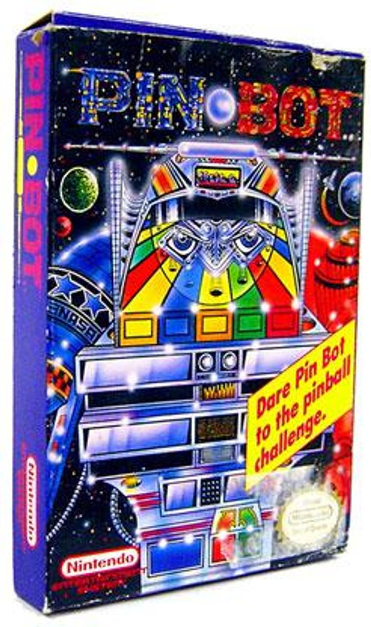 Nintendo NES Pin Bot Video Game Cartridge [Complete, Opened]