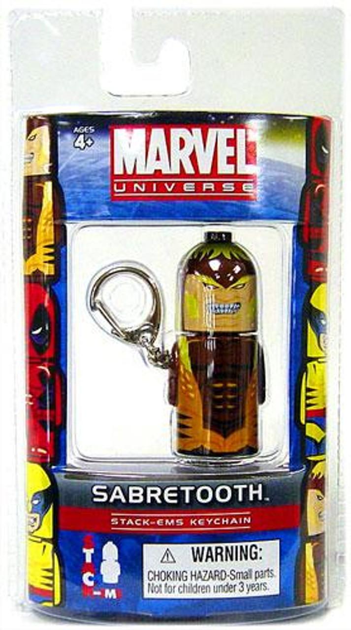 Marvel Universe Stack-Ems Series 2 Sabretooth Keychain