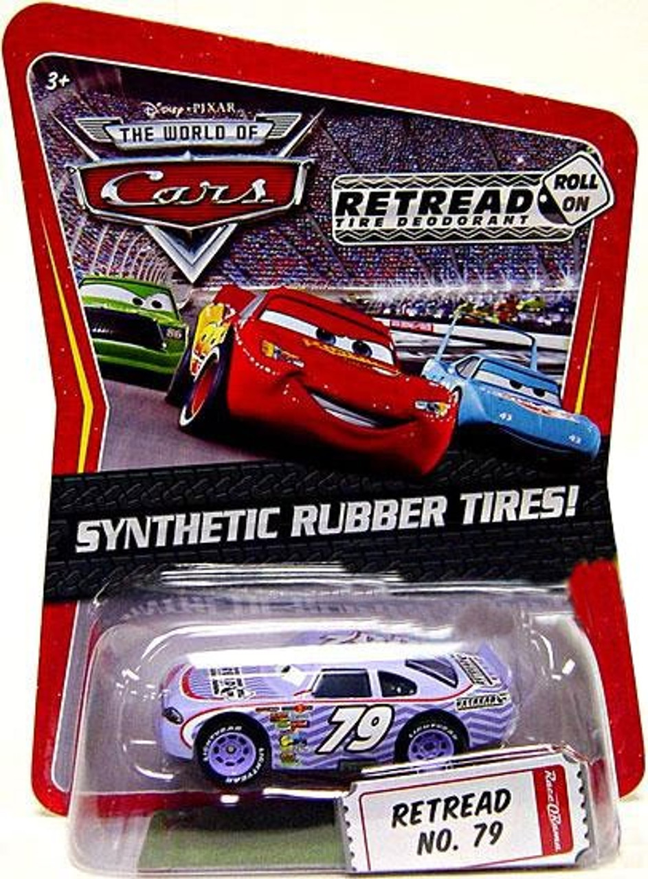 Disney Cars The World of Cars Synthetic Rubber Tires Retread No. 79 Exclusive Diecast Car