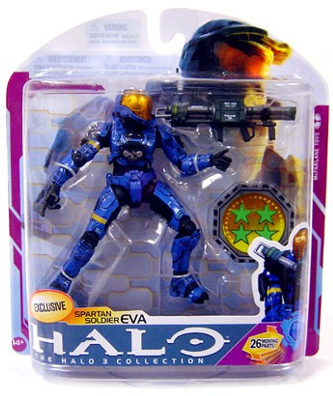 McFarlane Toys Halo 3 Series 6 Medal Edition Spartan Soldier EVA Exclusive Action Figure [Blue]