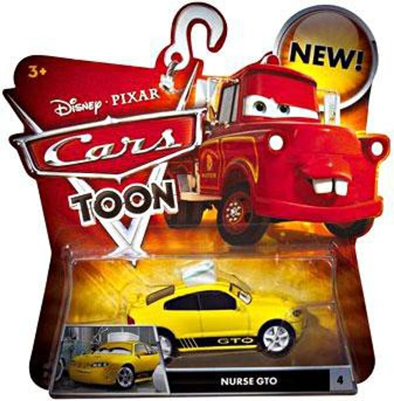 Disney Cars Cars Toon Main Series Nurse GTO Diecast Car #4