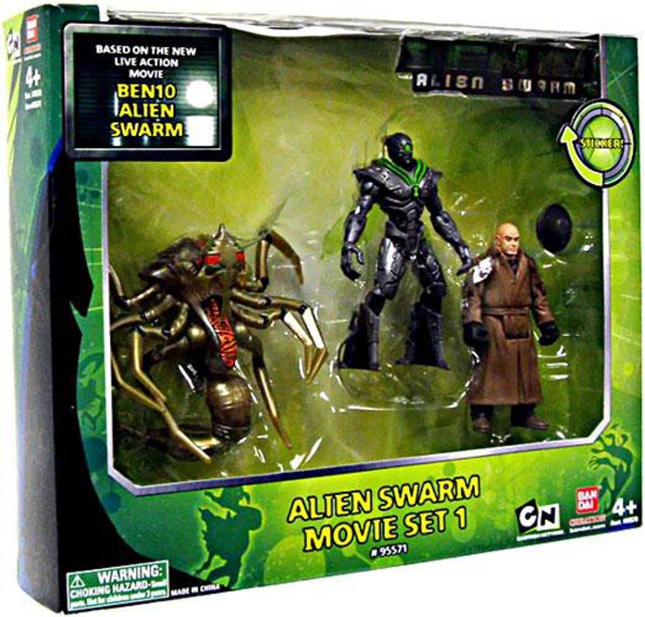 Ben 10 Alien Swarm Movie Set 1 Action Figure 3-Pack Set