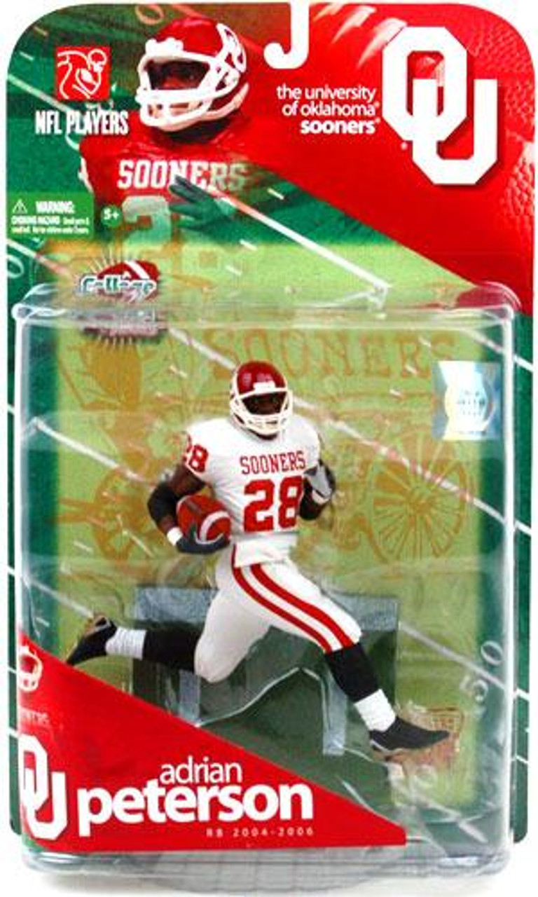 McFarlane Toys NCAA College Football Sports Picks Adrian Peterson Action Figure [White Jersey Variant]