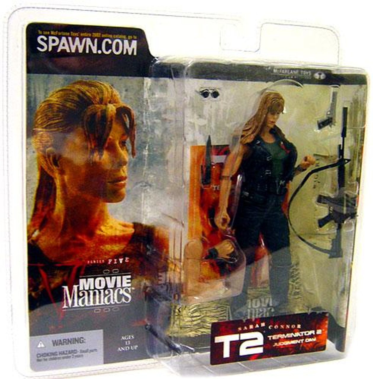 McFarlane Toys Terminator 2 Judgment Day Movie Maniacs Series 5 Sarah Connor Action Figure [Straight Hair]
