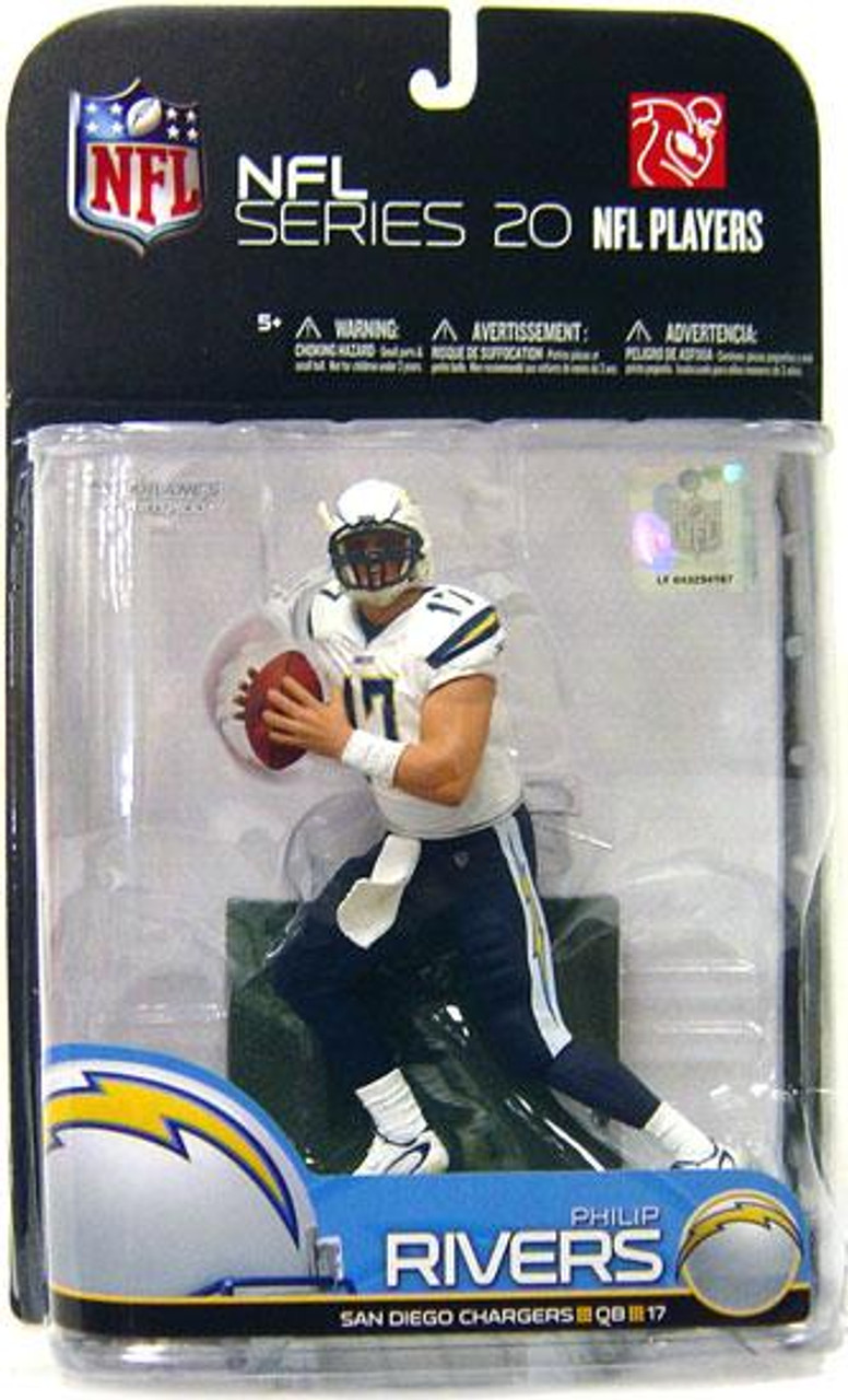 McFarlane Toys NFL San Diego Chargers Sports Picks Series 20 Philip Rivers Action Figure [White Jersey Variant]