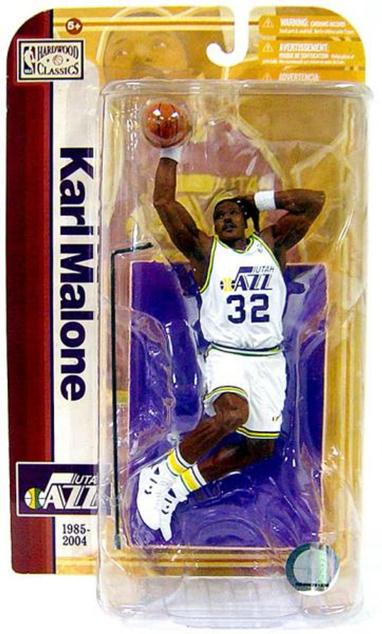 McFarlane Toys NBA Utah Jazz Sports Picks Legends Series 5 Karl Malone Action Figure [White Jersey Variant]