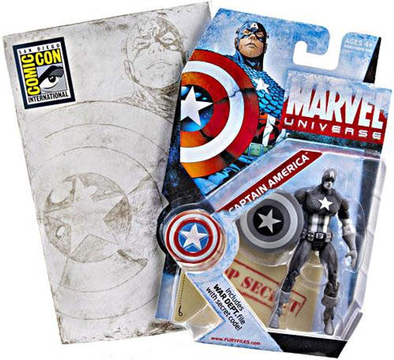 Marvel Universe Exclusives Captain America Exclusive Action Figure [Gray Scale]