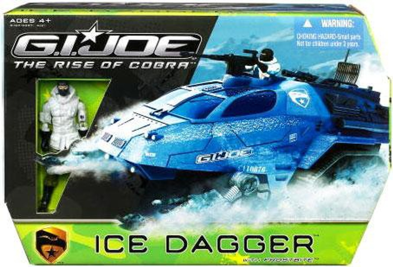 GI Joe The Rise of Cobra Ice Dagger with Frostbite Action Figure Action Figure Vehicle