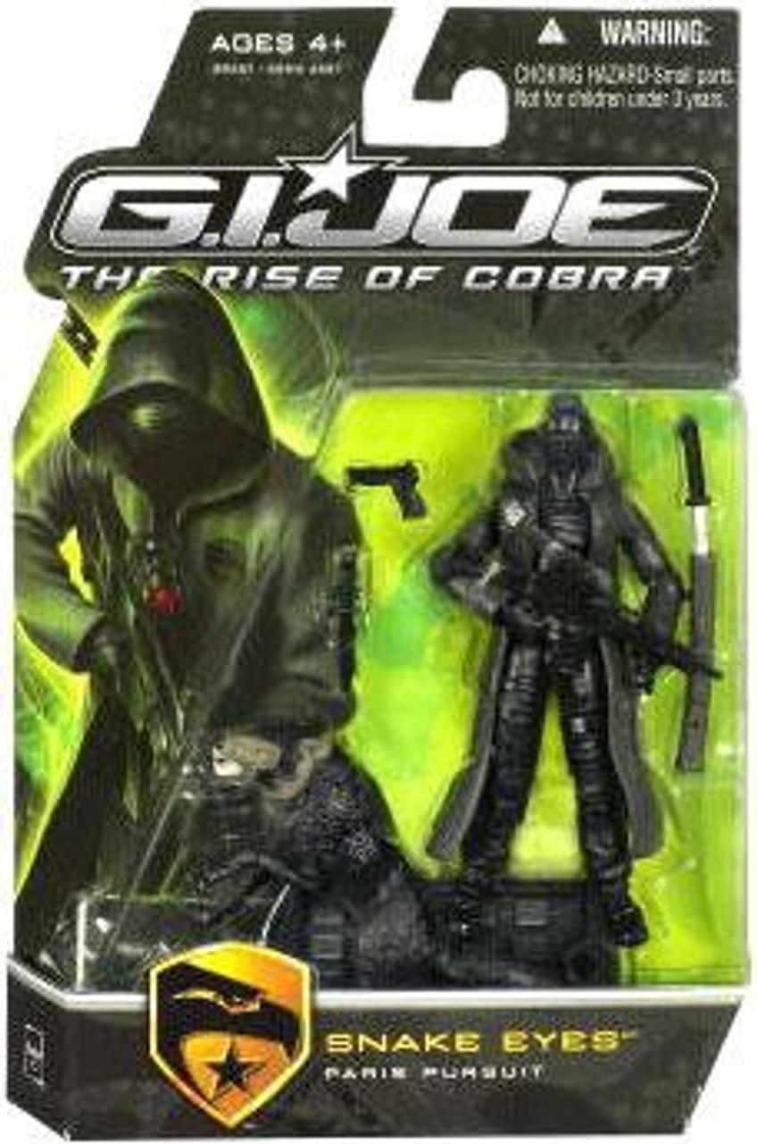 GI Joe The Rise of Cobra Snake Eyes Action Figure [Paris Pursuit, Black Timber]