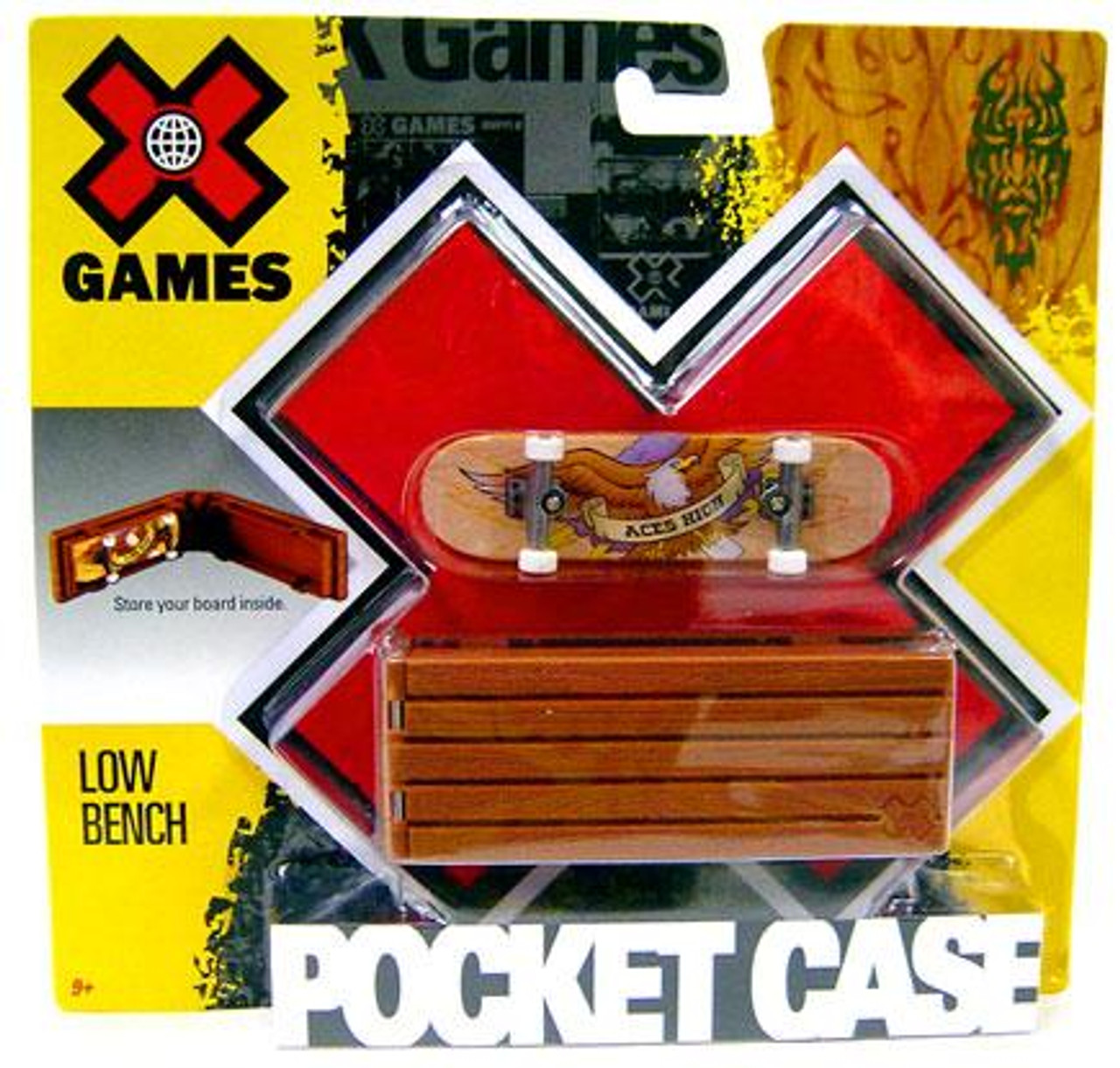 X Games Extreme Sports Low Bench Mini Skateboard Pocket Case