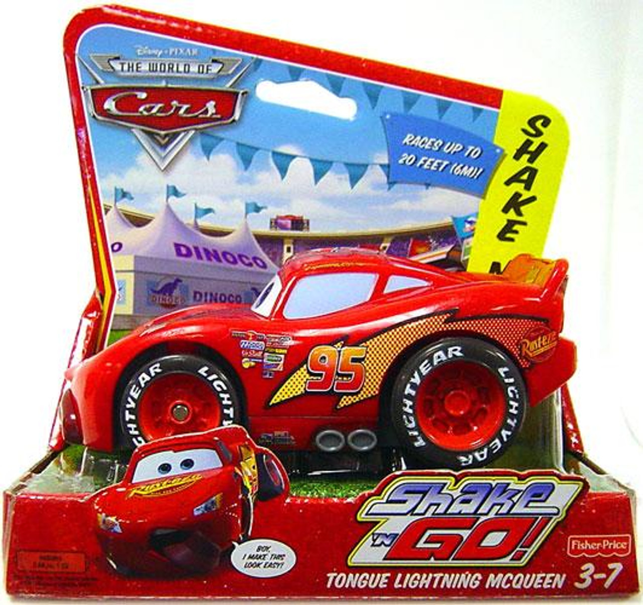 Disney Cars The World of Cars Shake 'N Go Tongue Lightning McQueen Shake 'N Go Car