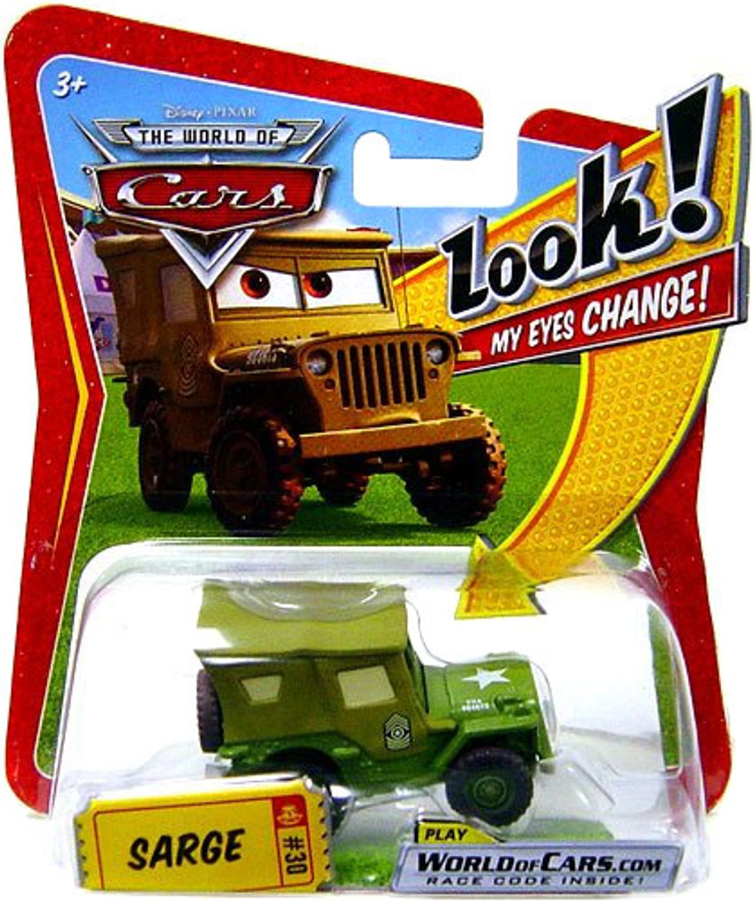Disney Cars The World of Cars Lenticular Eyes Series 1 Sarge Diecast Car