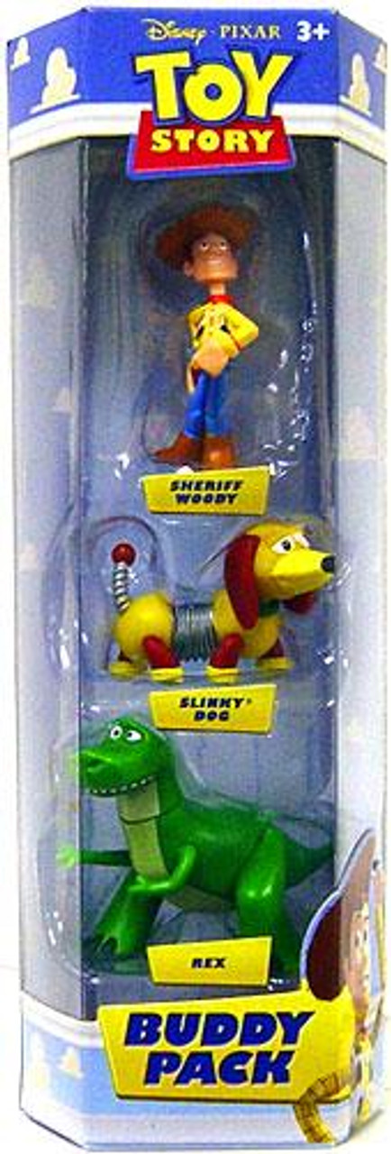 Toy Story Buddy Pack Sheriff Woody, Slinky Dog & Rex Mini Figure 3-Pack