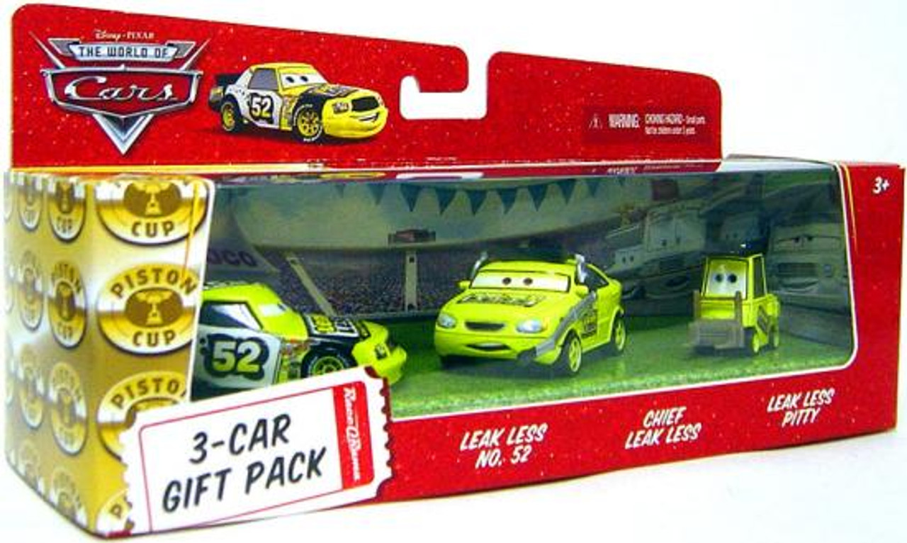 Disney Cars The World of Cars Team Leak Less 3-Car Gift Pack Diecast Car Set