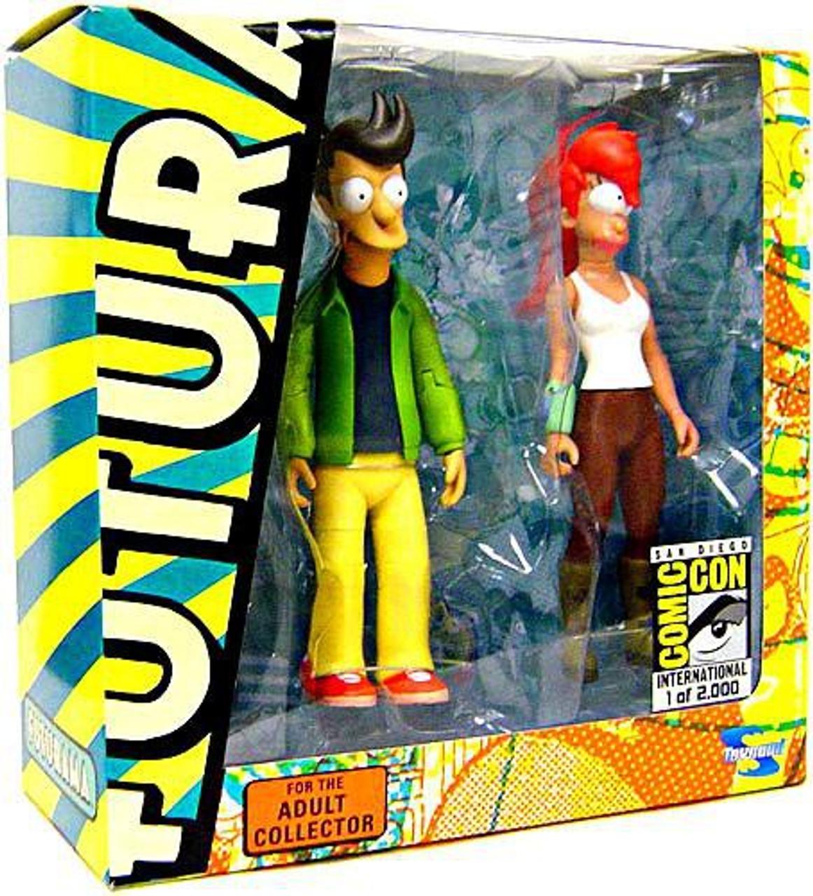 Futurama Alternate Universe Fry & Leela Exclusive Action Figure 2-Pack