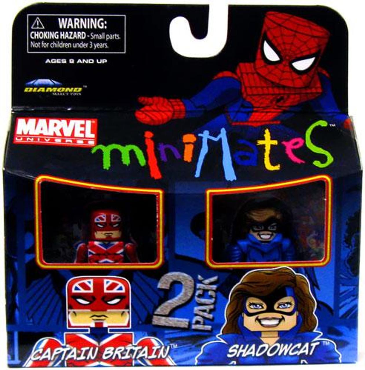 Marvel Universe Minimates Series 31 Captain Britain & Shadowcat Minifigure 2-Pack