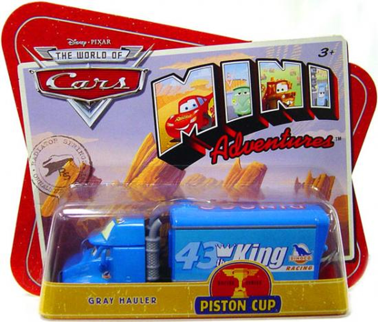 Disney Cars The World of Cars Mini Adventures Gray Hauler Plastic Car