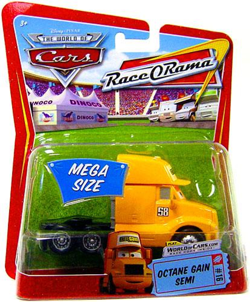 Disney Cars The World of Cars Race-O-Rama Octane Gain Semi Diecast Car #16