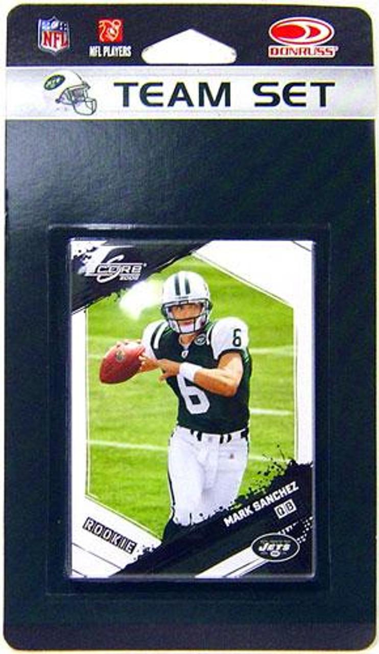 NFL 2009 Donruss Football Cards New York Jets Team Set