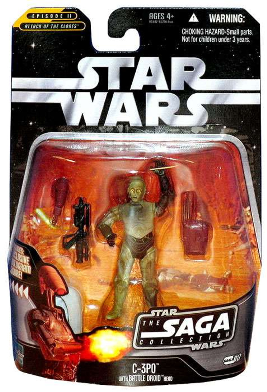 Star Wars Attack of the Clones Saga Collection 2006 C-3PO Action Figure #17 [With Battle Droid Head]