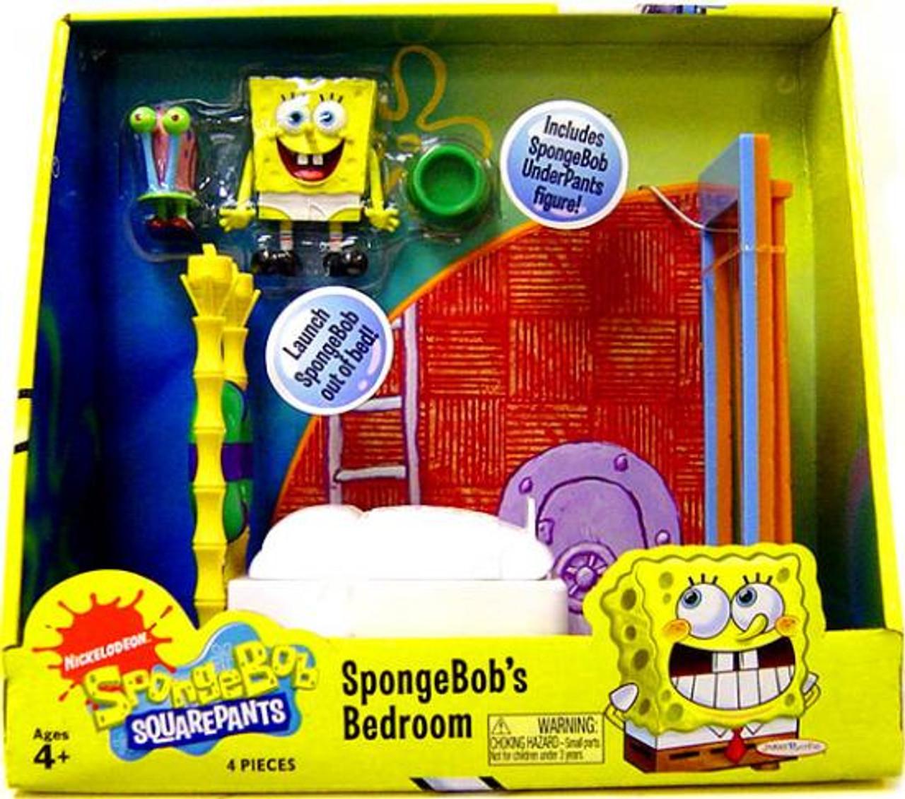Spongebob Squarepants Spongebob s Bedroom Playset. Spongebob Squarepants Spongebobs Bedroom Playset Jakks Pacific