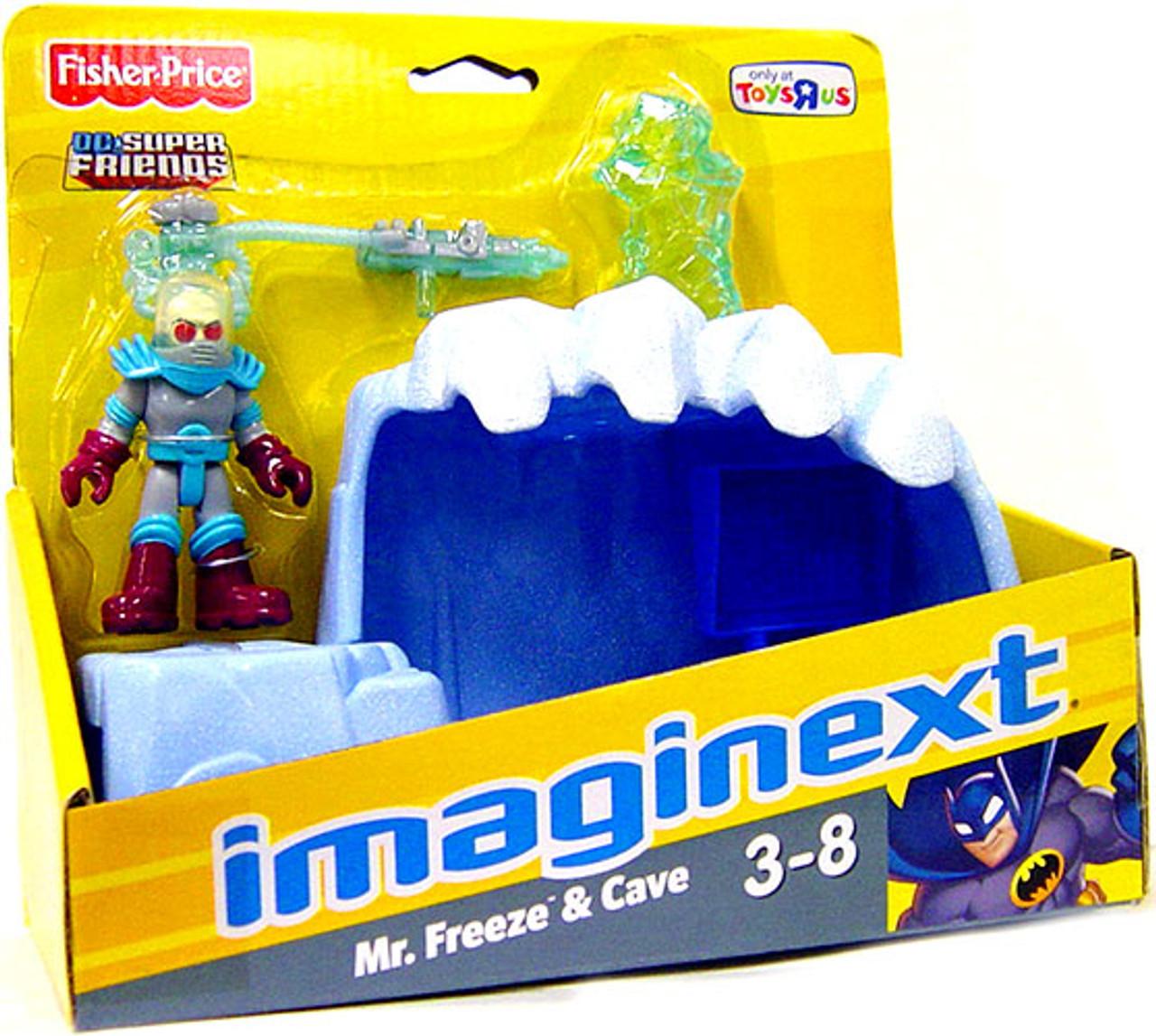 Fisher Price DC Super Friends Batman Imaginext Mr. Freeze & Cave Exclusive 3-Inch Figure Set