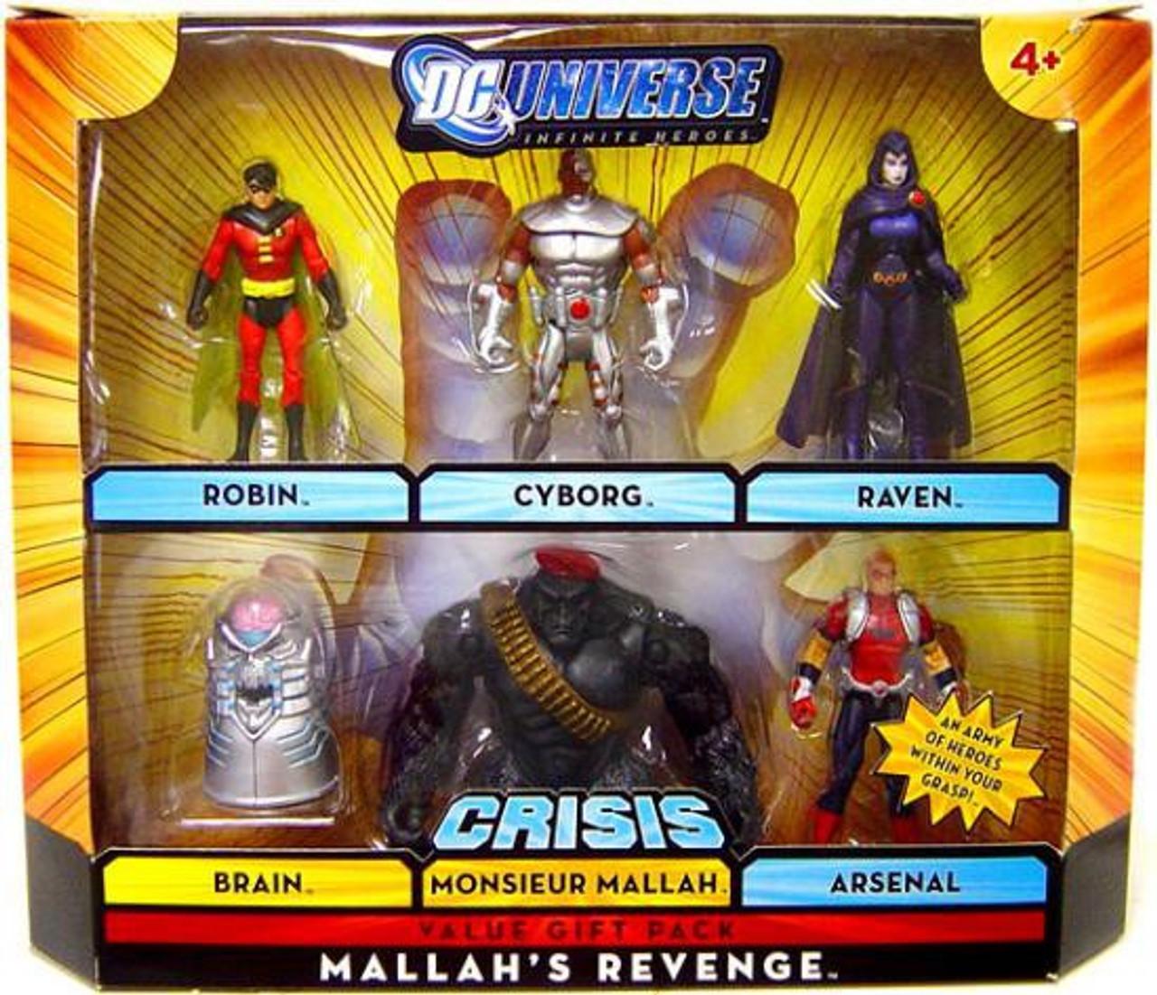 DC Universe Crisis Infinite Heroes Mallah's Revenge Exclusive Action Figure Set