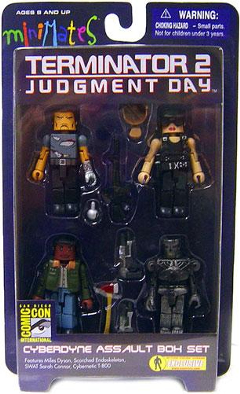 Terminator 2 Judgment Day Minimates Cyberdyne Assault Exclusive Minifigure 4-Pack