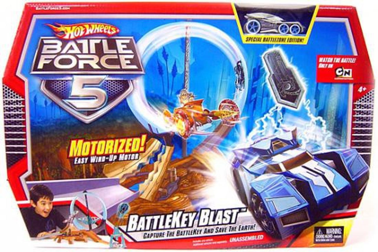 Hot Wheels Battle Force 5 Battlekey Blast Track Set Track Set