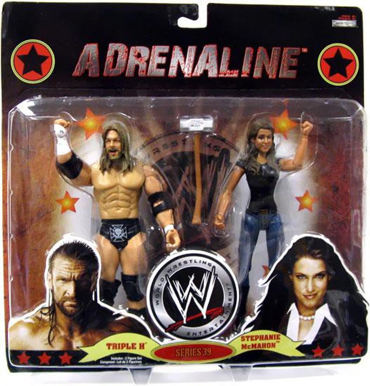 WWE Wrestling Adrenaline Series 39 Triple H & Stephanie McMahon Action Figure 2-Pack