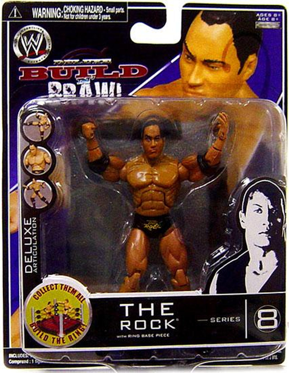WWE Wrestling Build N' Brawl Series 8 The Rock Action Figure