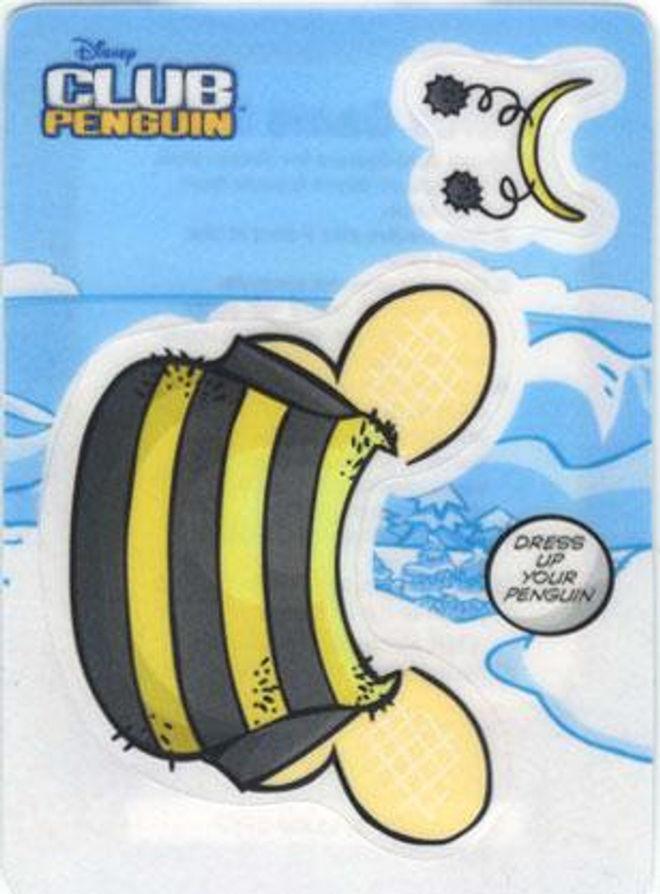 Club Penguin Bumble Bee Redemption Sticker Card