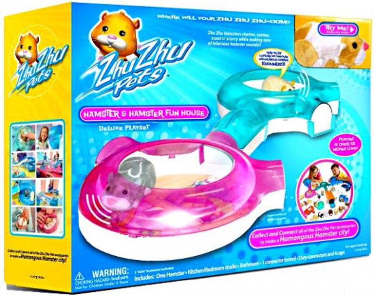 Zhu Zhu Pets Hamster & Hamster Funhouse Exclusive Playset
