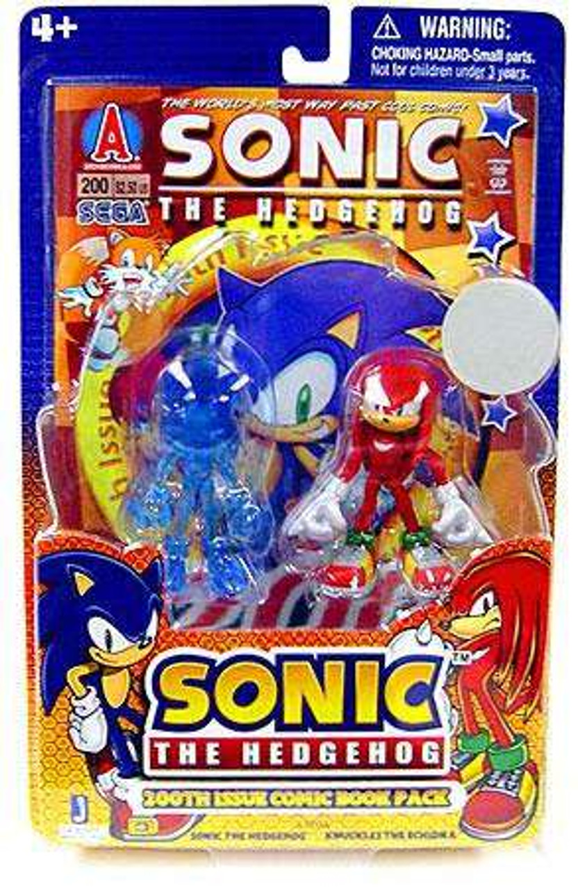 Sonic The Hedgehog Comic Book Pack Translucent Sonic & Knuckles Exclusive Action Figure 2-Pack