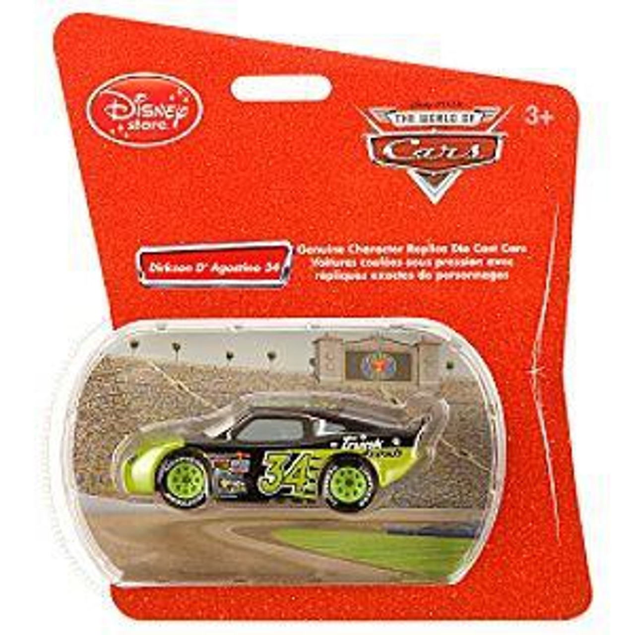 Disney Cars 1:48 Single Packs Dirkson D'Agostino No. 34 Exclusive Diecast Car [Trunk Fresh]
