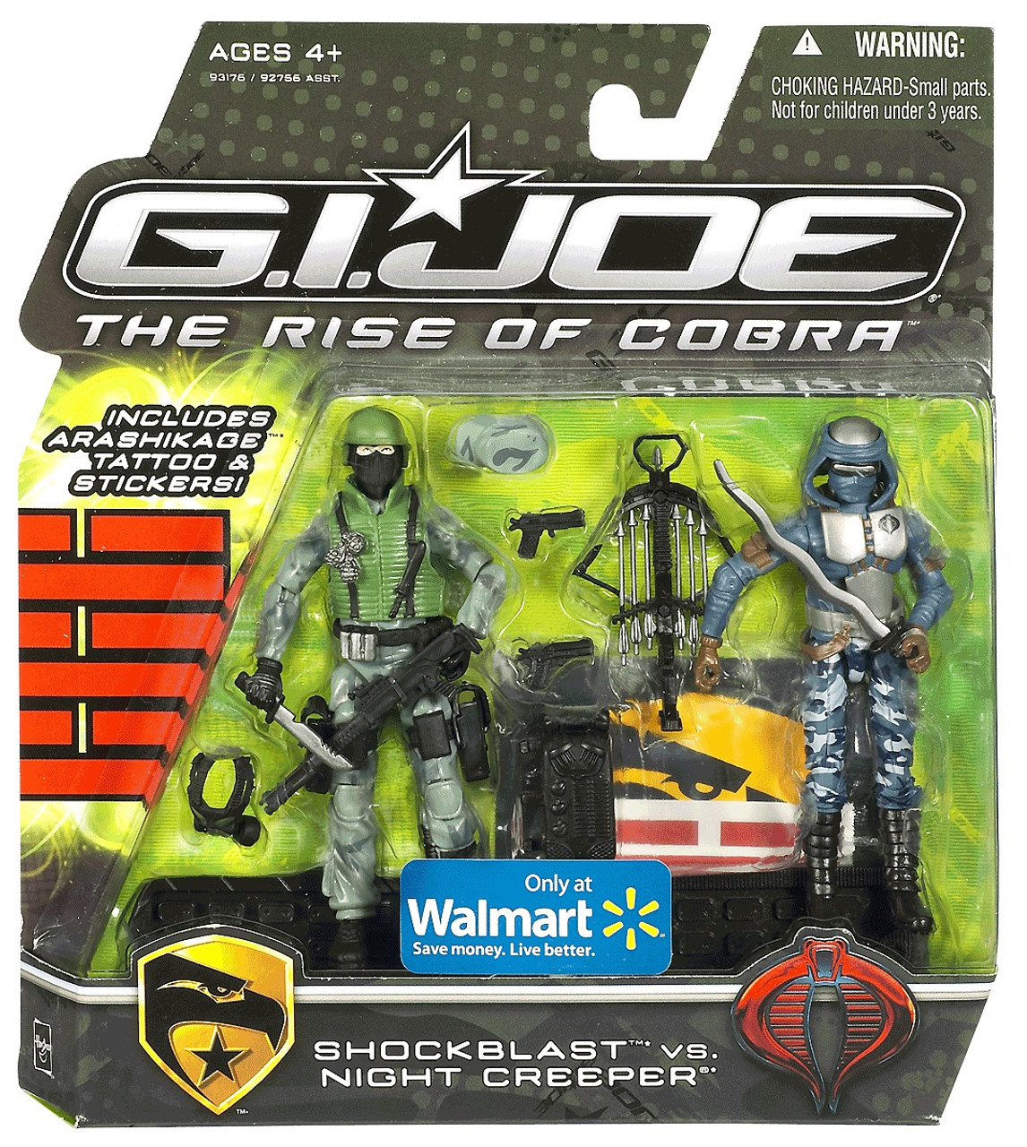 GI Joe The Rise of Cobra Shockblast vs. Night Creeper Exclusive Action Figure 2-Pack