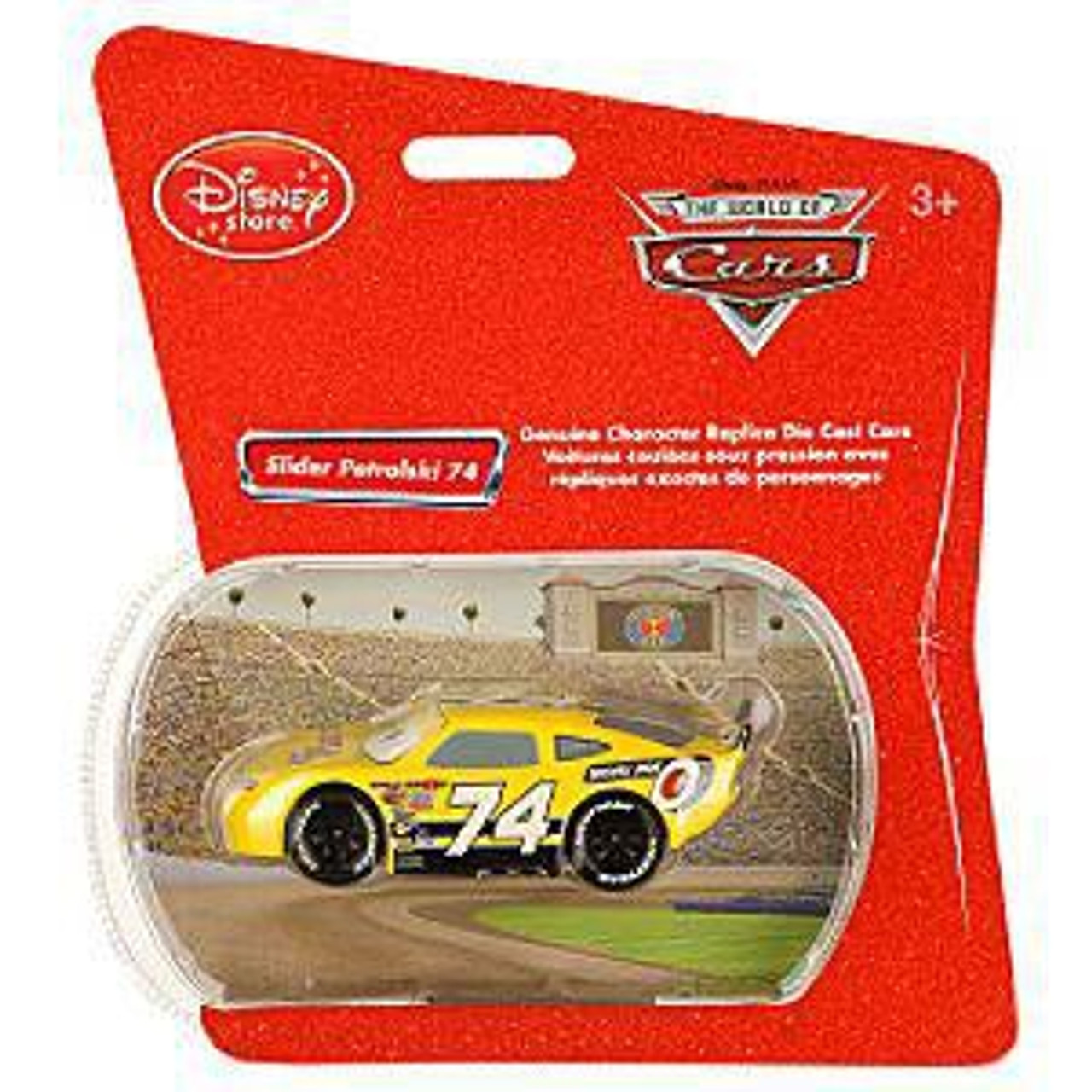 Disney Cars 1:48 Single Packs Slider Petrolski No. 74 Exclusive Diecast Car [Sidewall Shine]