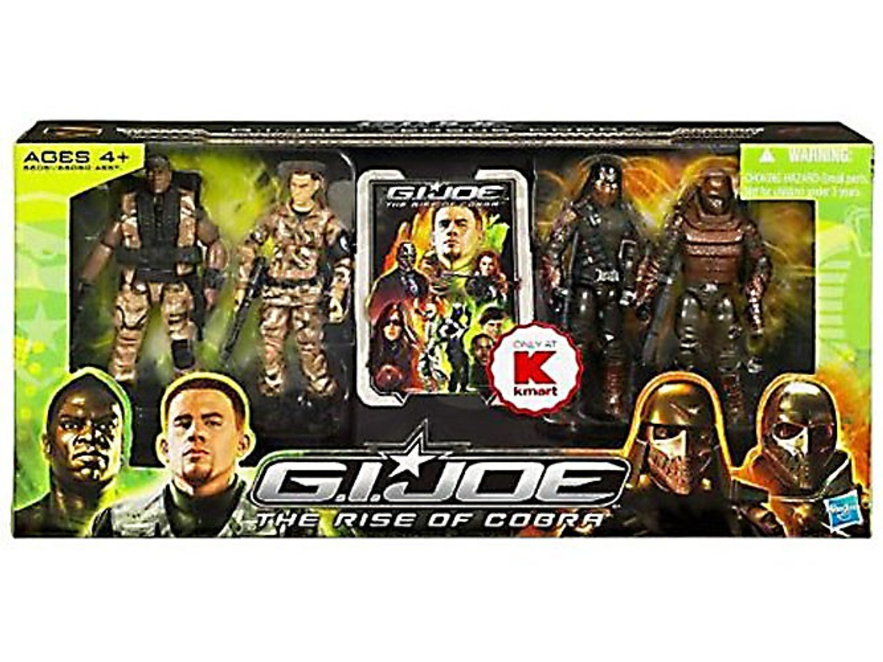 The Rise of Cobra GI Joe Vs. Cobra Exclusive Action Figure 4-Pack