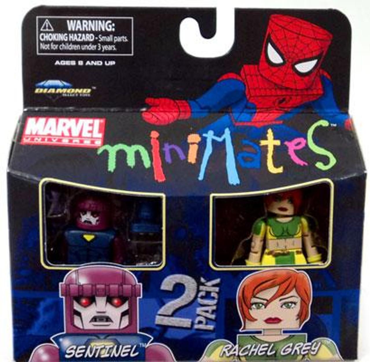Marvel Universe Minimates Series 33 Sentinel & Rachel Gray [Marvel Girl] Minifigure 2-Pack