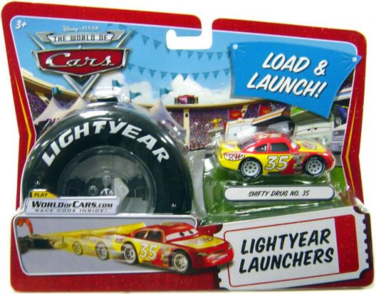 Disney Cars The World of Cars Lightyear Launchers Shifty Drug No. 35 Diecast Car [With Launcher]