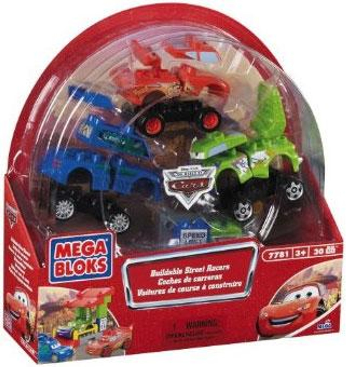 Mega Bloks Disney Cars The World of Cars Buildable Street Racers Set #7781