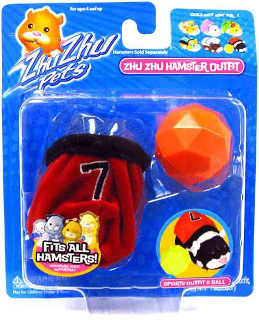 Zhu Zhu Pets Series1 Hamster Outfit Sports Outfit & Ball Accessory Set