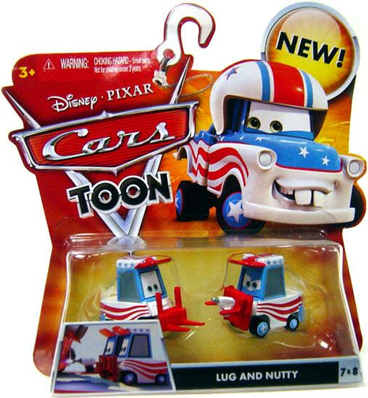 Disney Cars Cars Toon Main Series Lug & Nutty Diecast Car #7 & 8