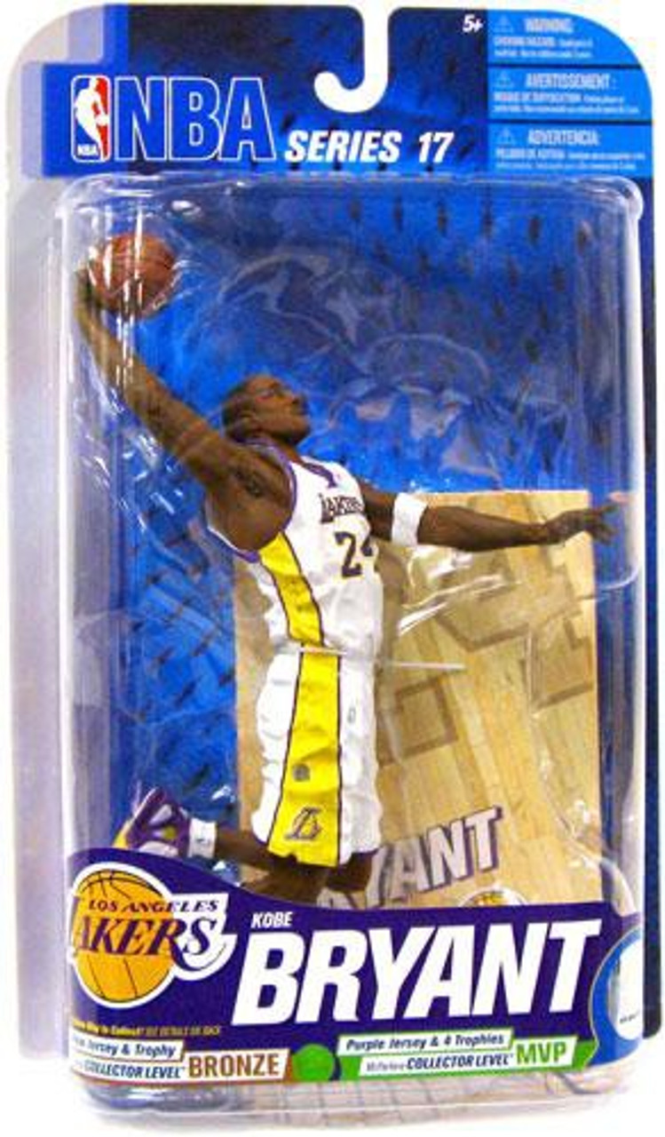 McFarlane Toys NBA Los Angeles Lakers Sports Picks Series 17 Kobe Bryant Action Figure [White Jersey]