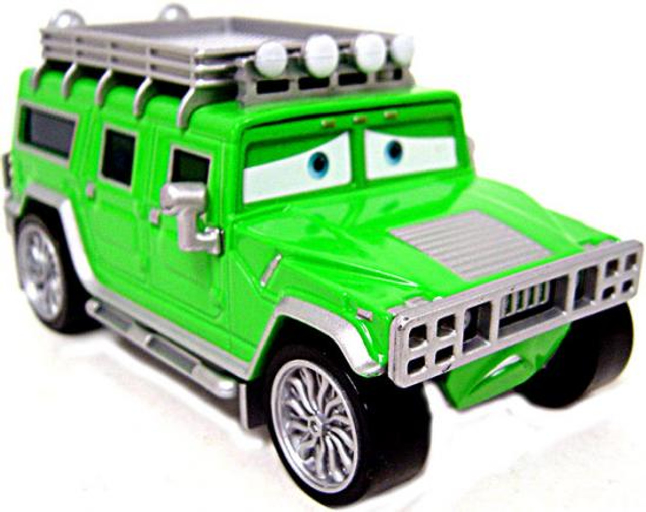 Disney Cars Loose TJ The Green Hummer Diecast Car [Loose]