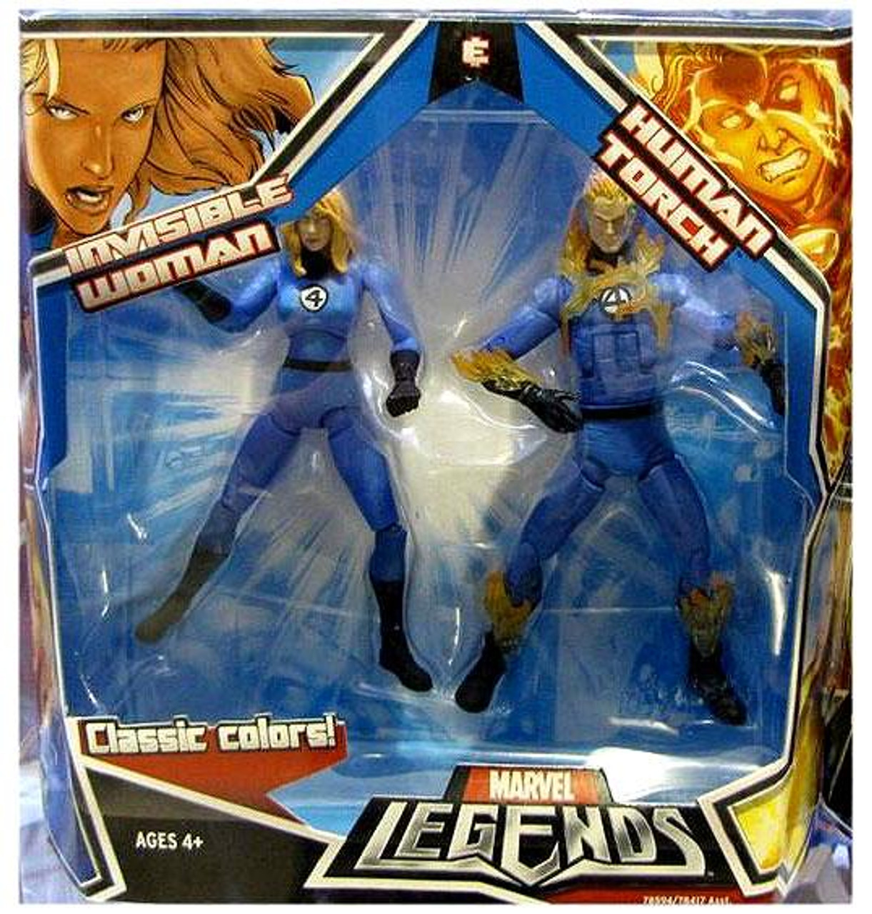 Marvel Legends Human Torch & Invisible Woman Action Figure 2-Pack
