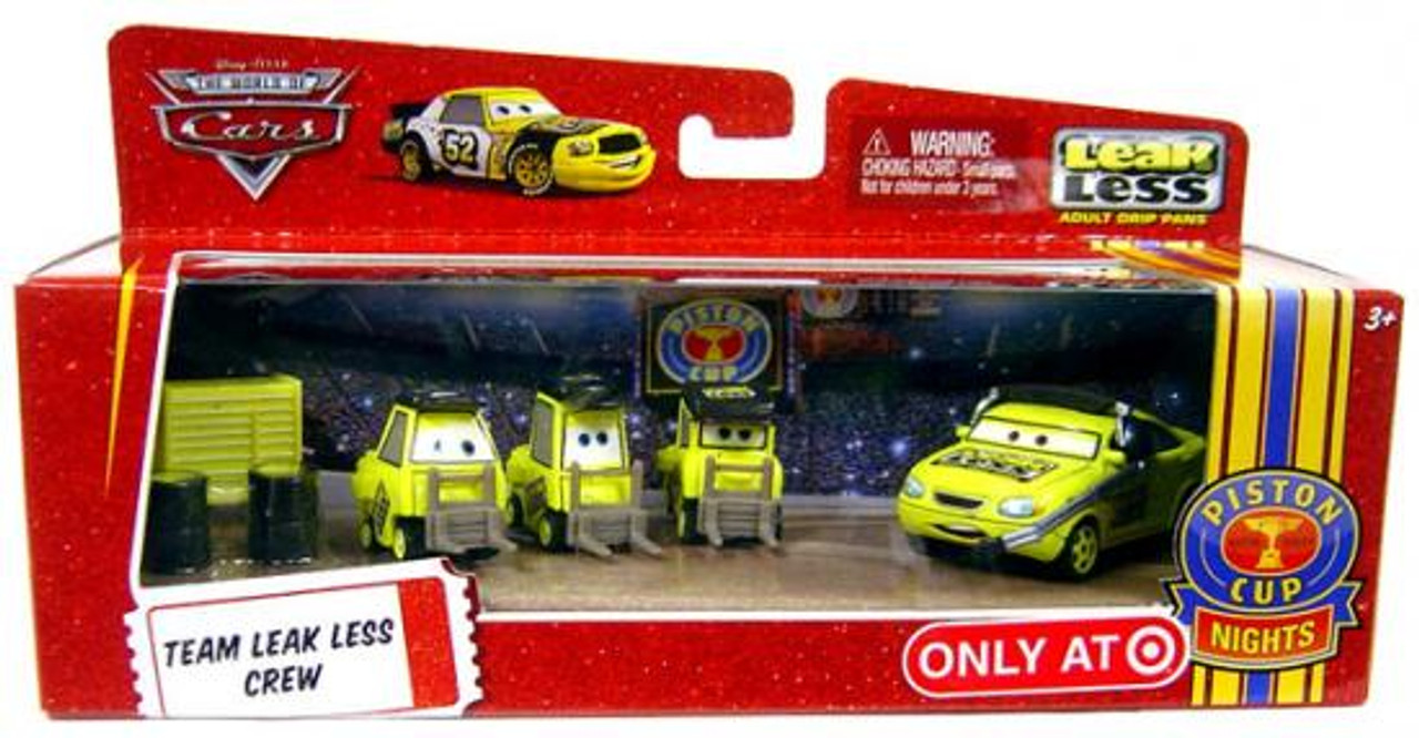 Disney Cars The World of Cars Team Leak Less Crew Exclusive Diecast Car Set